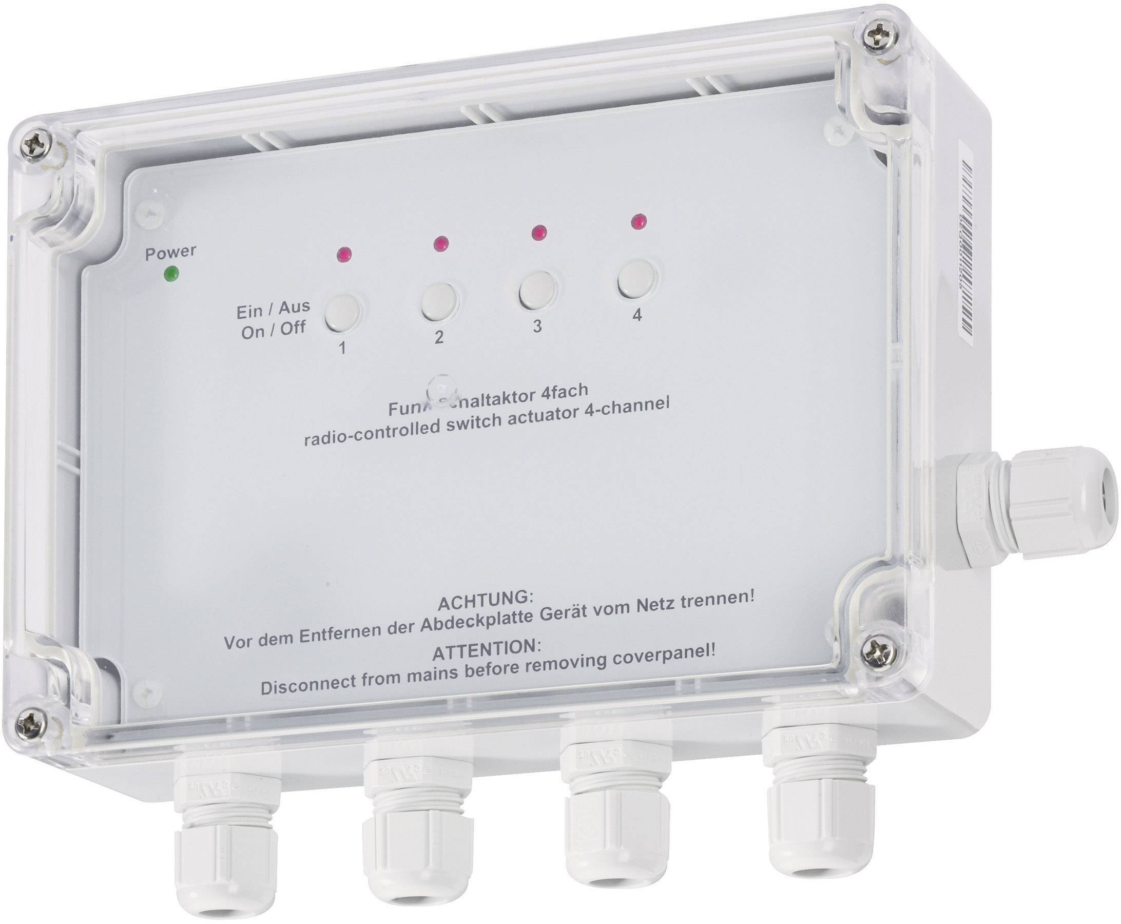 Bezdrôtový spínač HomeMatic, 4 vývody