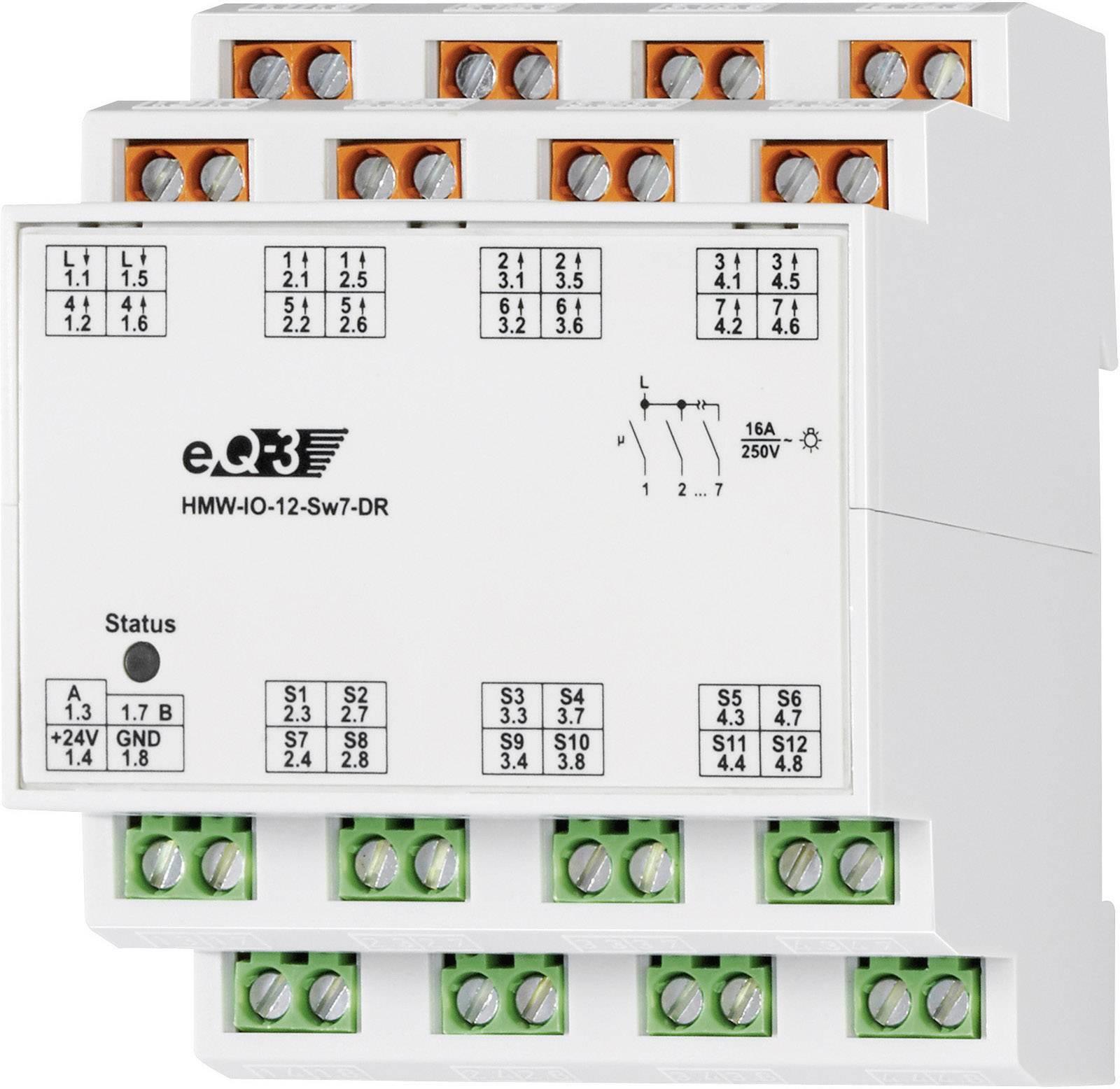 I/O modul RS485 na DIN lištu HomeMatic HMW-IO-12-Sw7-DR, 76805, 12 vstupů, 7 výstupů