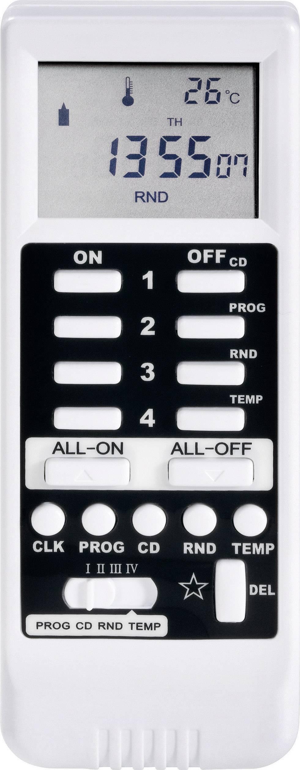 Bezdrôtové diaľkové ovládanie s LCD RSLT, biele
