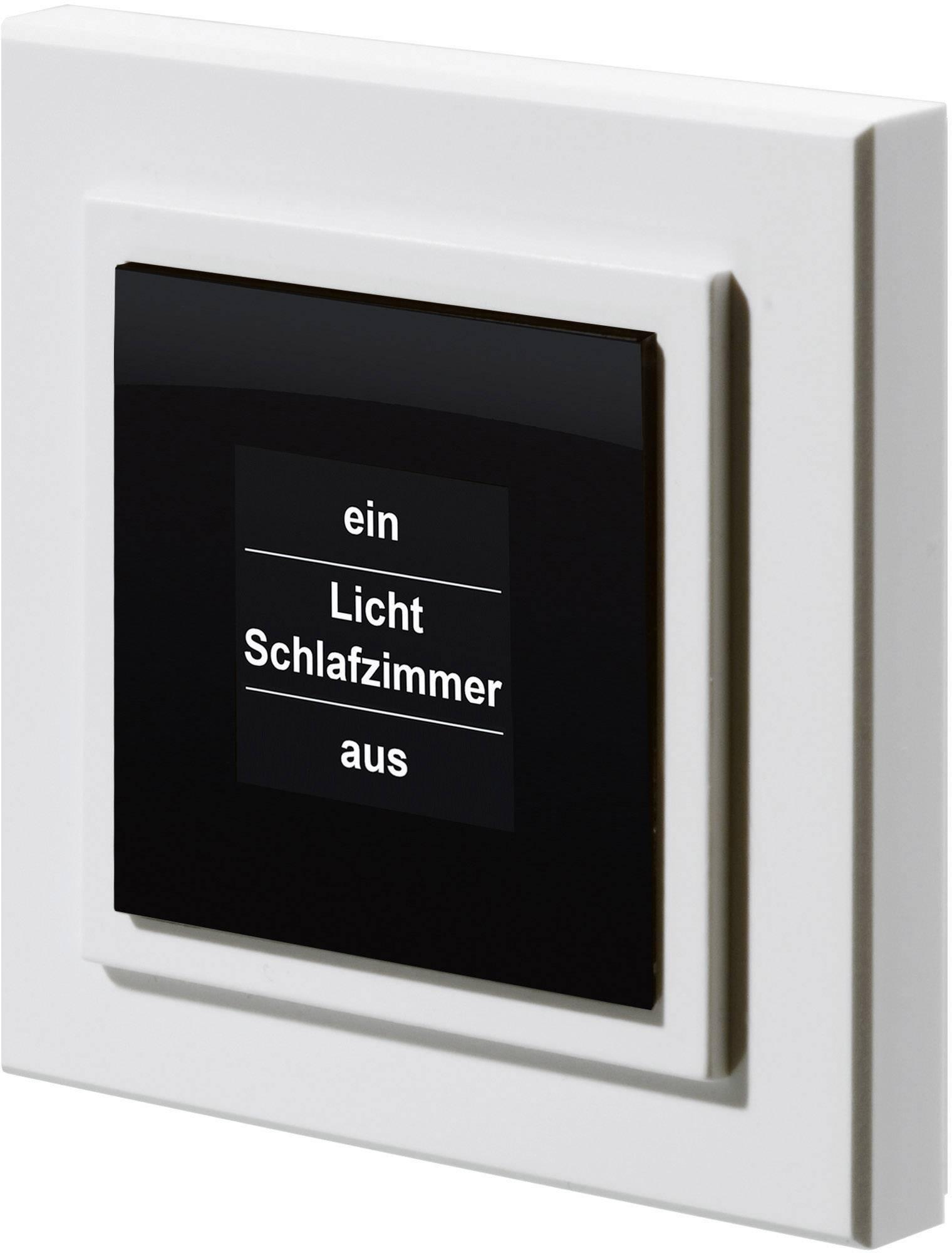 Bezdrôtové nástenné tlačidlo s displejom HomeMatic HM-PB-4Dis-WM, 4 kanály