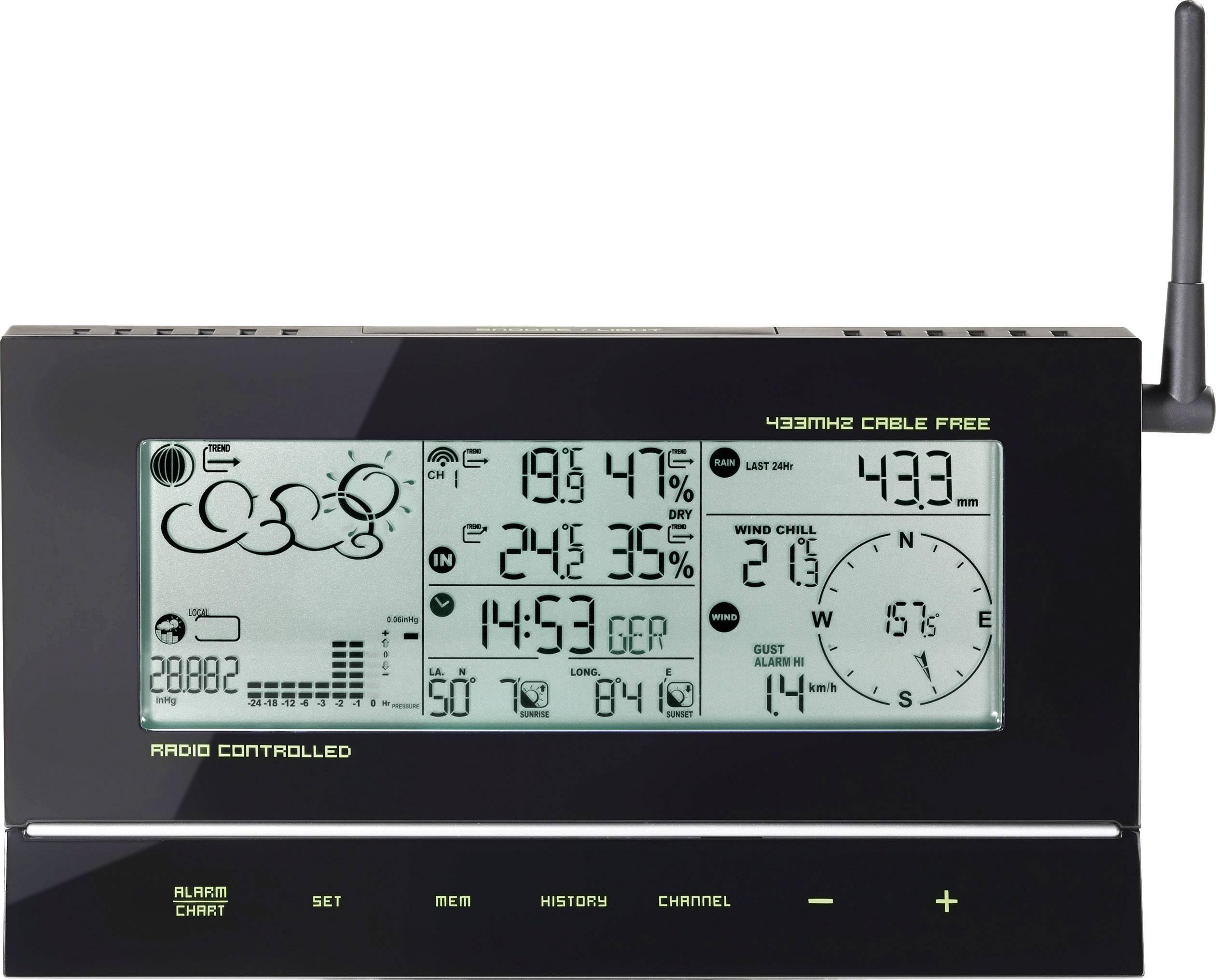 Digitálna bezdrôtová meteostanica TE857 646510, Max. dosah 30 m