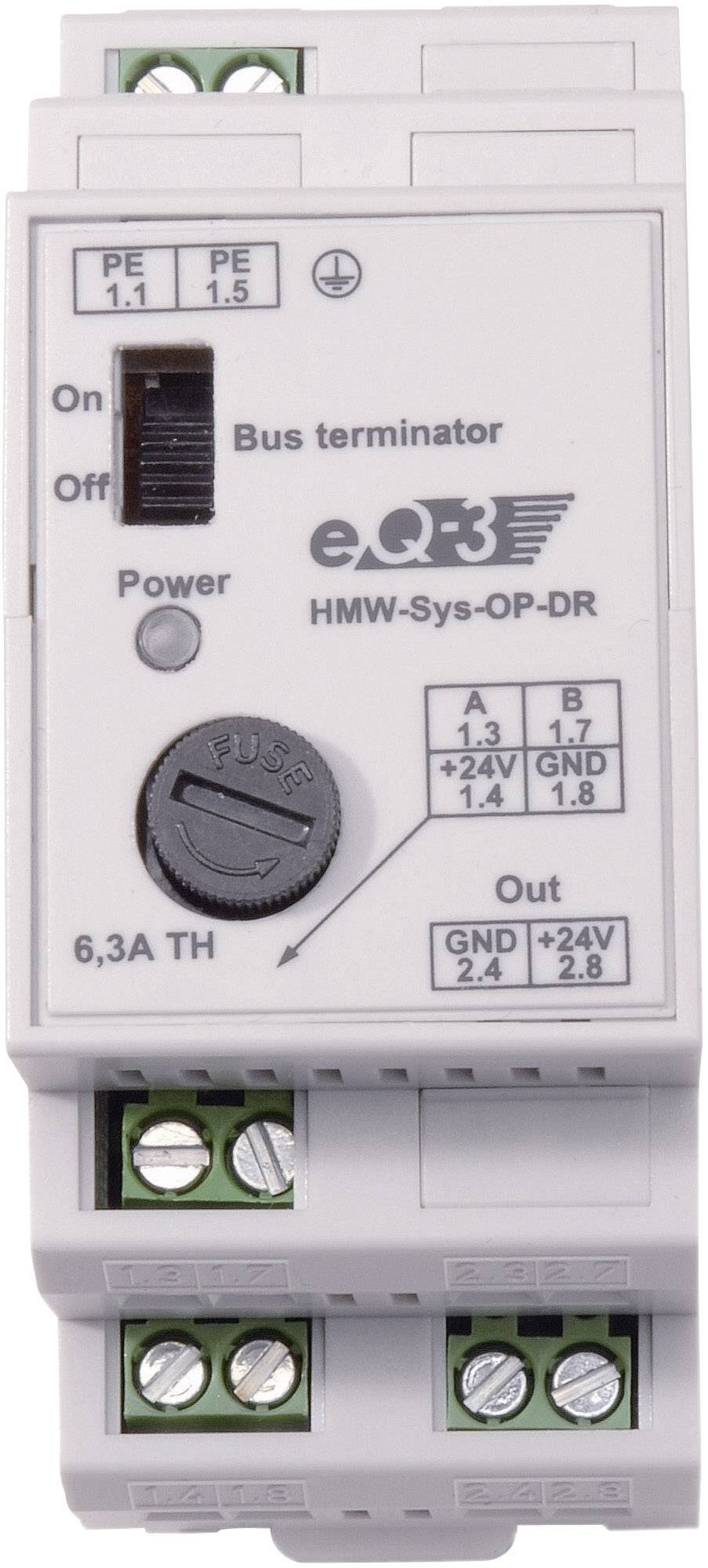 Přepěťová ochrana RS485 na DIN lištu HomeMatic HMW-Sys-OP-DR, 85978