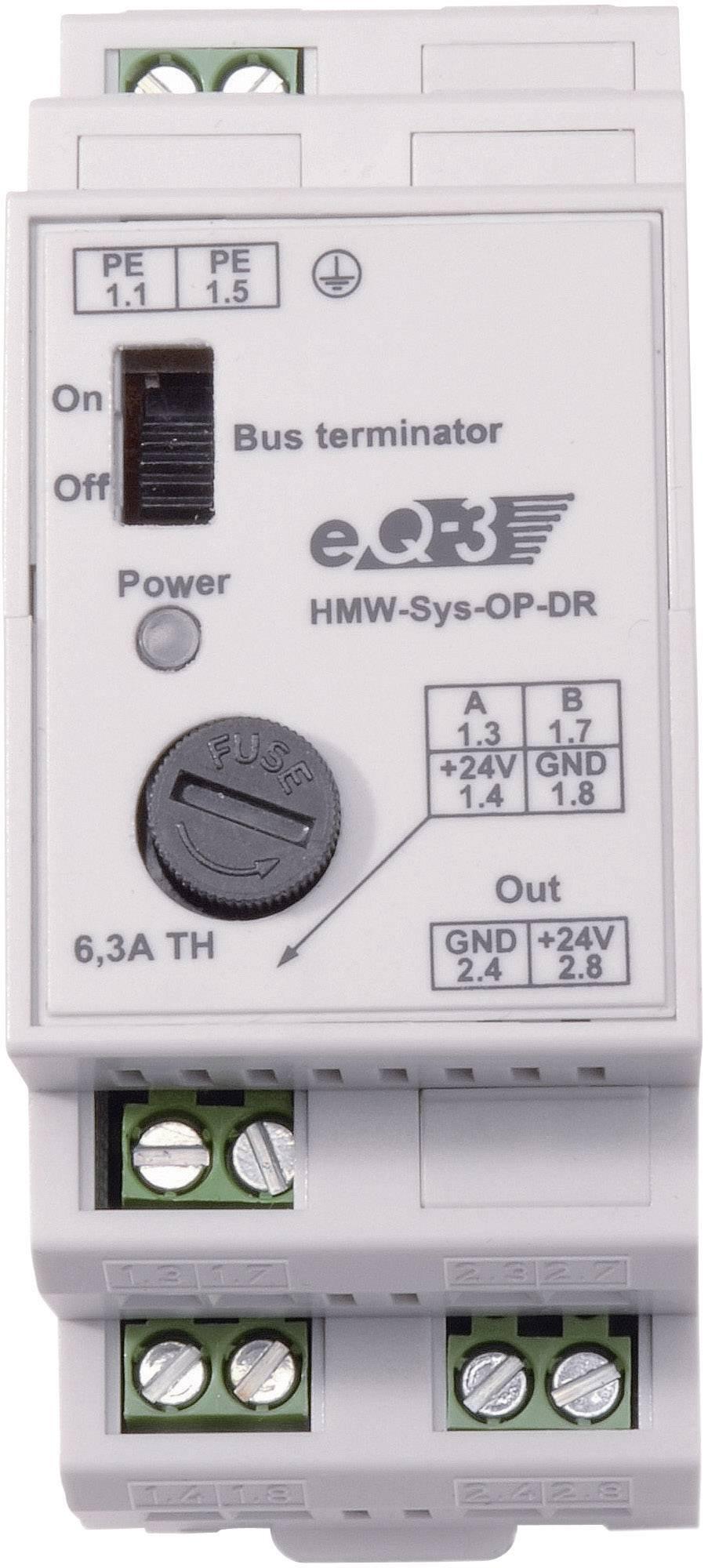 Prepäťová ochrana pre 24 V a RS485 pripojenie na DIN lištu HomeMatic HMW-Sys-OP-DR