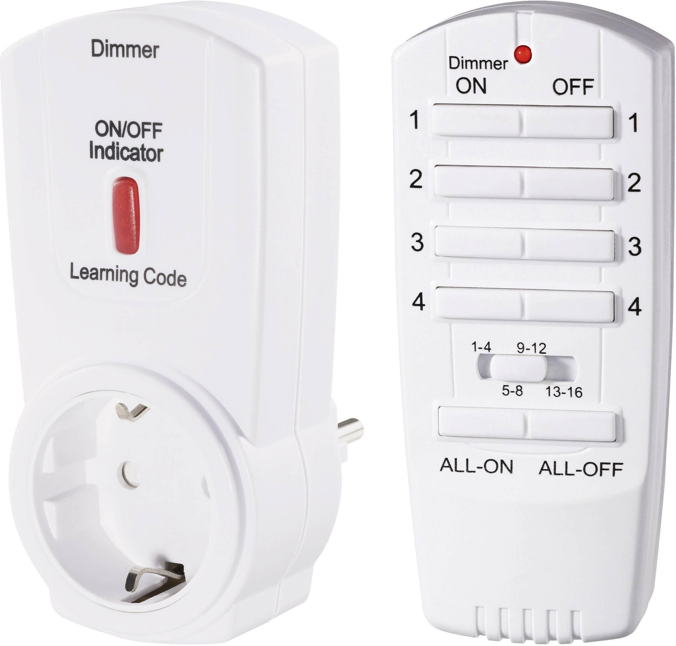Sada bezdrôtovej zásuvky s funkciou stmievania a diaľkovým ovládačom RSL