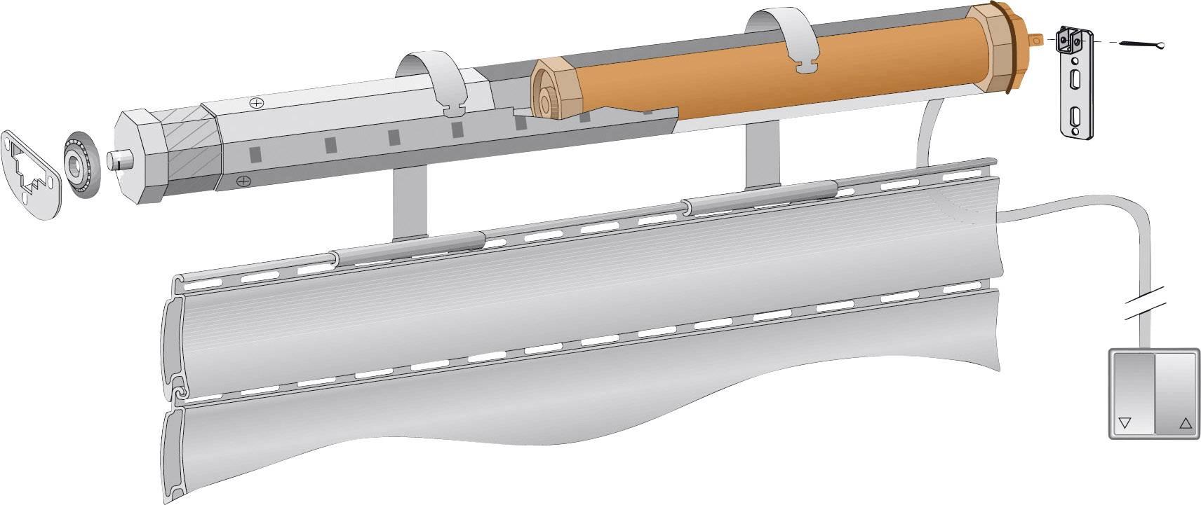 Sada ovládania pre trubkový motor Kaiser Nienhaus Favorit 130017, ťah až 5 m2