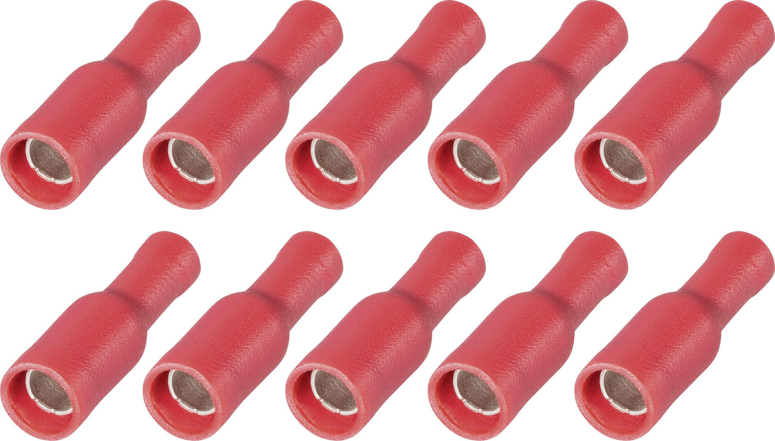 Sada dutinkových upevnení faston s PVC izoláciou na kábel RRP 4-1, 4 mm, 0,5 - 1,5 mm², červená, 10 ks