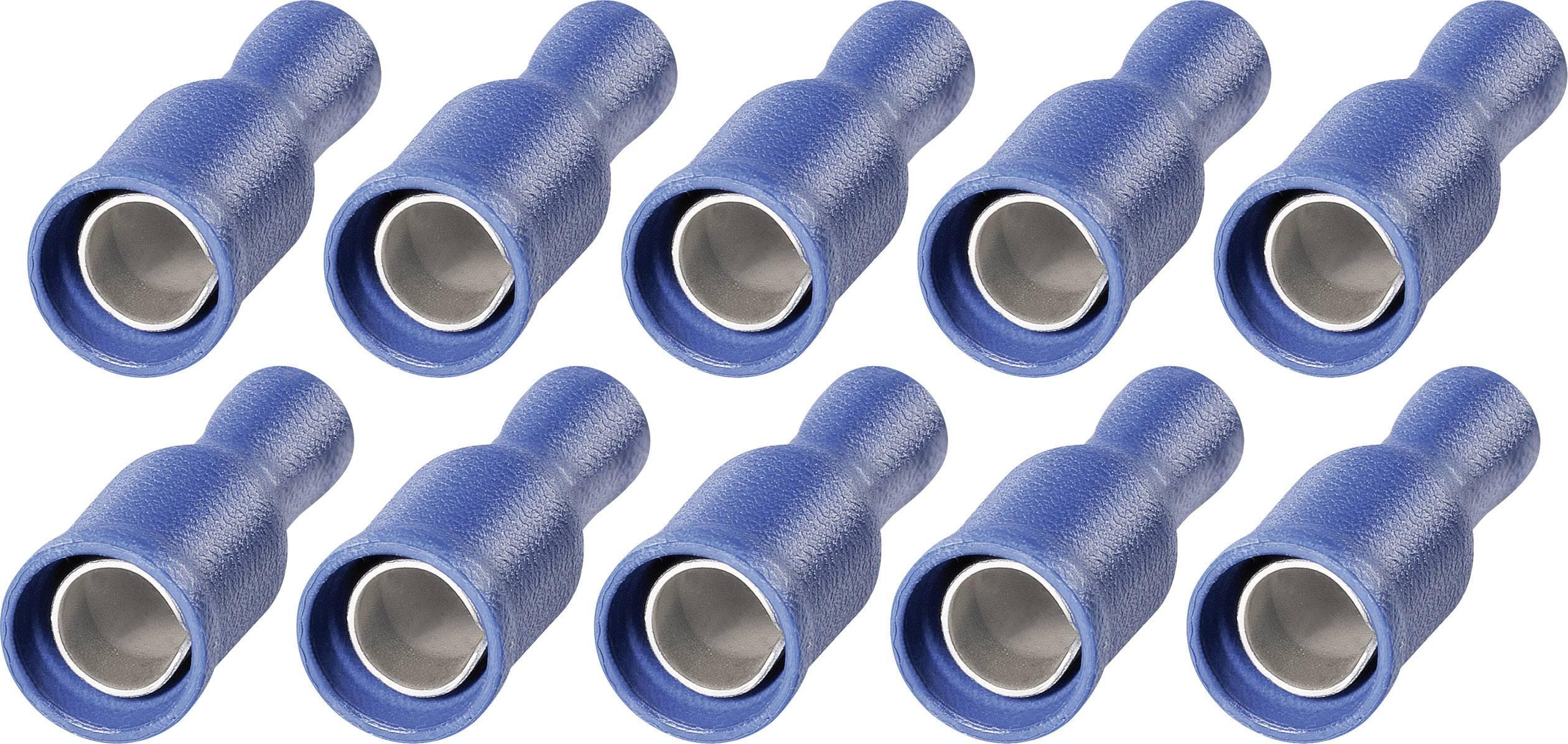 Sada dutinkových upevnení faston s PVC izoláciou na kábel RRP 5-2,5, 5 mm, 1,5 - 2,5 mm² ,modrá, 10 ks