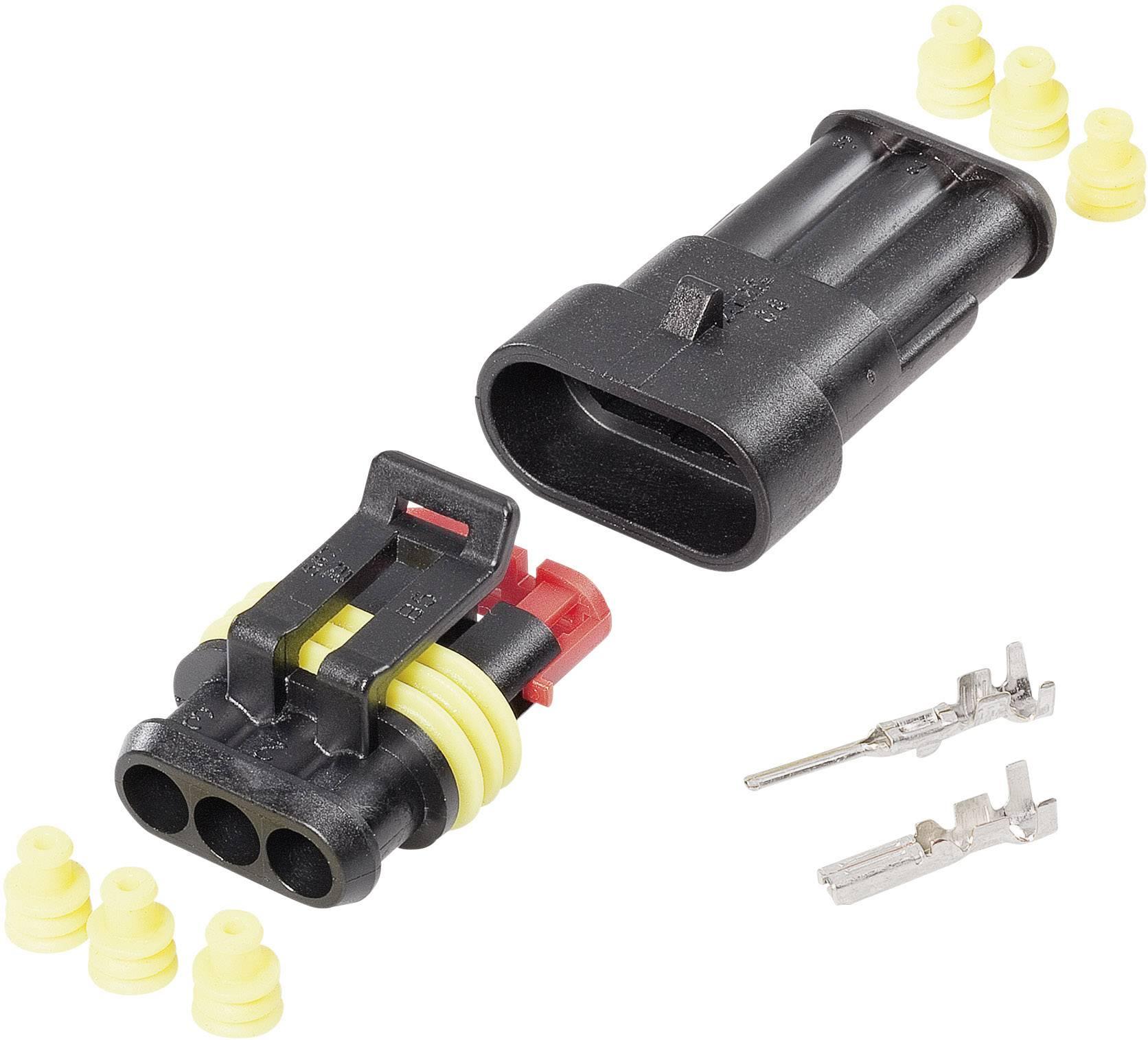 Sada konektorů Superseal TE Connectivity 3, rozteč 6 mm, 1 balení