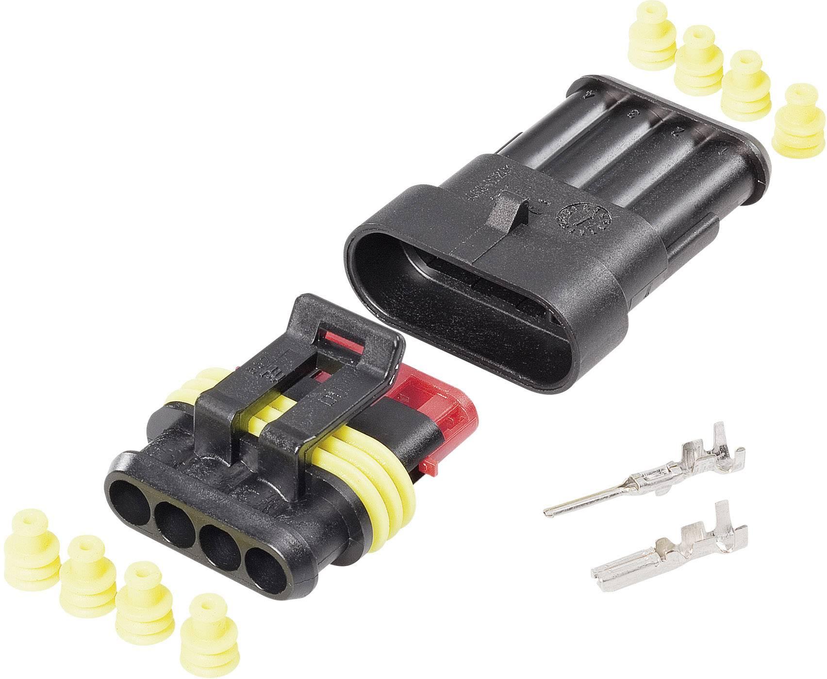 Sada konektorů Superseal TE Connectivity 4016139188287, pólů 4, rozteč 6 mm, 1 balení