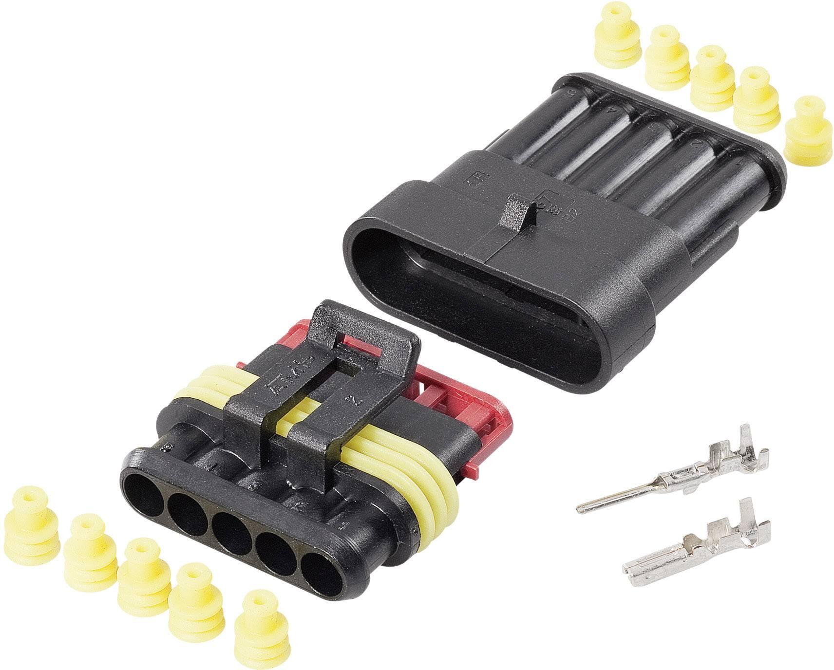 Sada konektorů Superseal TE Connectivity 5, rozteč 6 mm, 1 balení