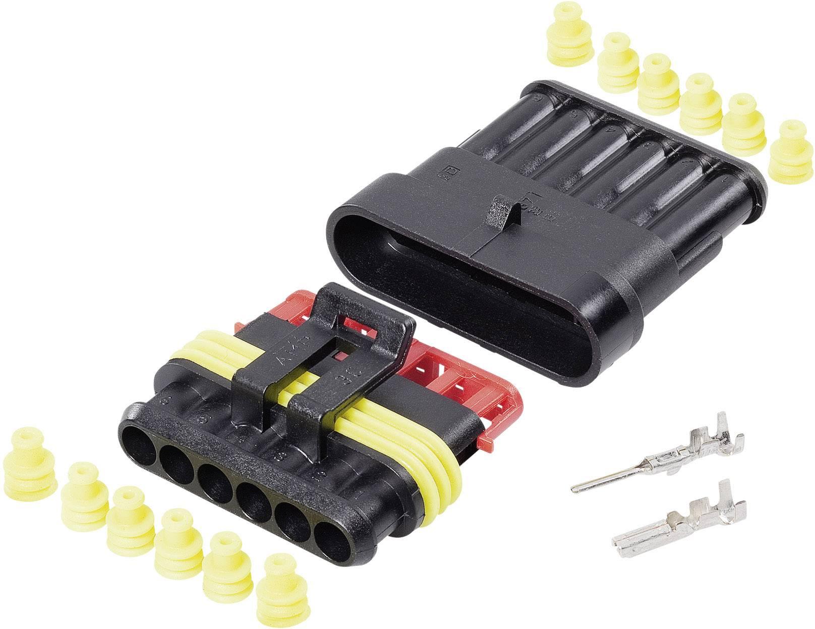Sada konektorů Superseal TE Connectivity 6, rozteč 6 mm, 1 balení