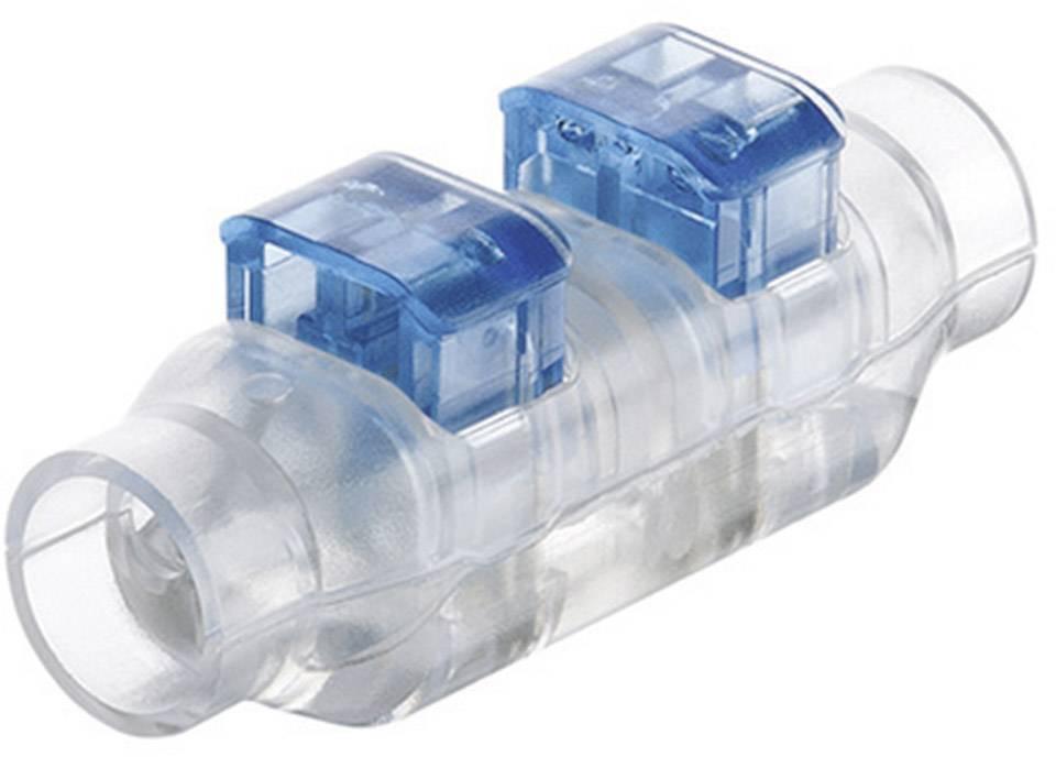 Rychlospojka TE Connectivity na kábel s rozmerom 0.82-1 mm², pólů 2, 1 ks, priehľadná, modrá
