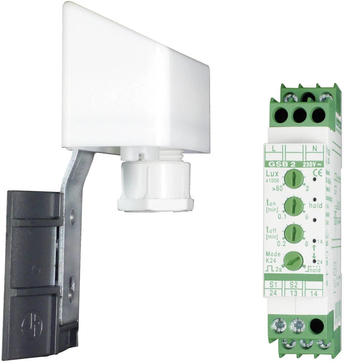 Spínacie relé so senzorom svetla Kaiser Nienhaus Sonne 336300 na DIN lištu