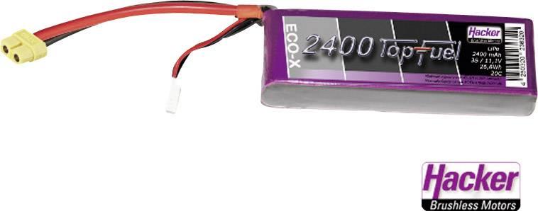 Akupack LiPol Hacker XT60, 31491, 11.1 V, 2400 mAh, 20 C