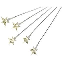 Svetelné LED stonky s 5-timi hviezdami, teplá biela, 5 ks