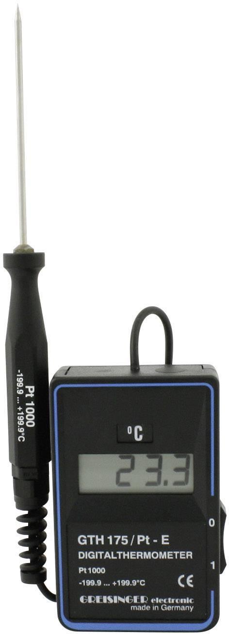 Digitální teploměr vč. zapichovacího snímače teploty, Greisinger GTH 175/Pt - E,