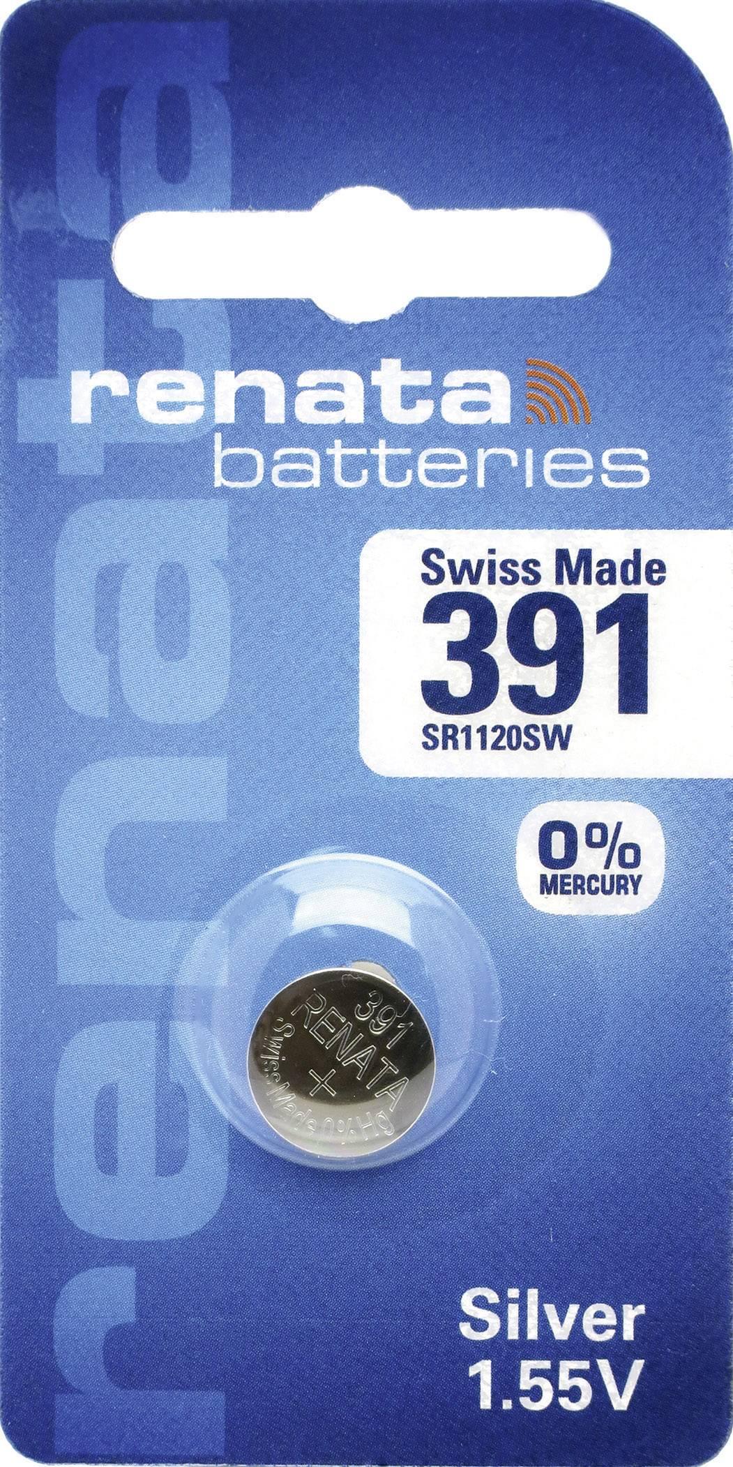 Gombíkové batérie z oxidu strieborného 391