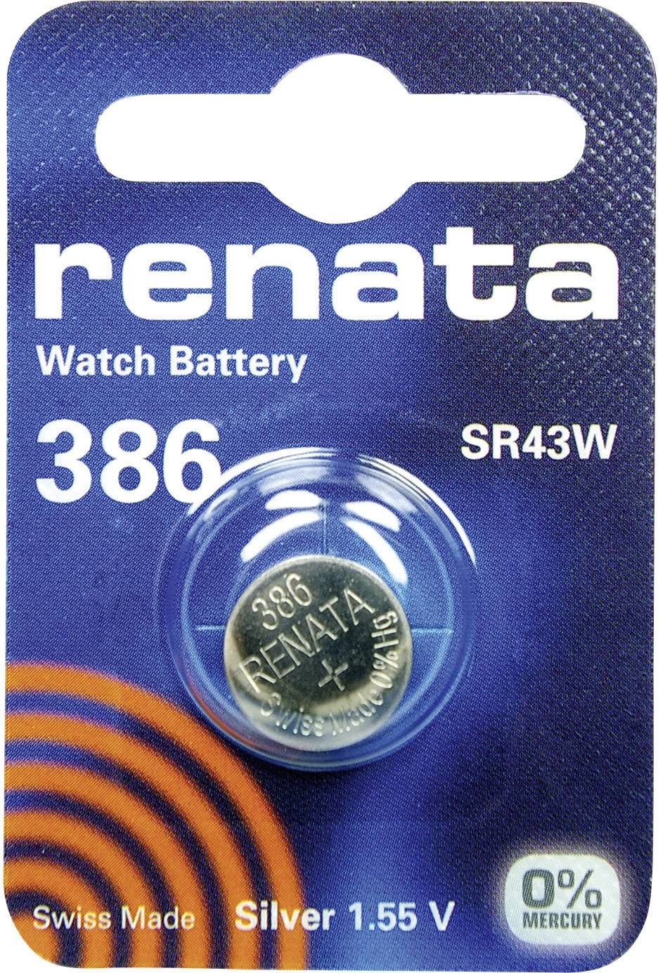 Gombíkové batérie z oxidu strieborného 386