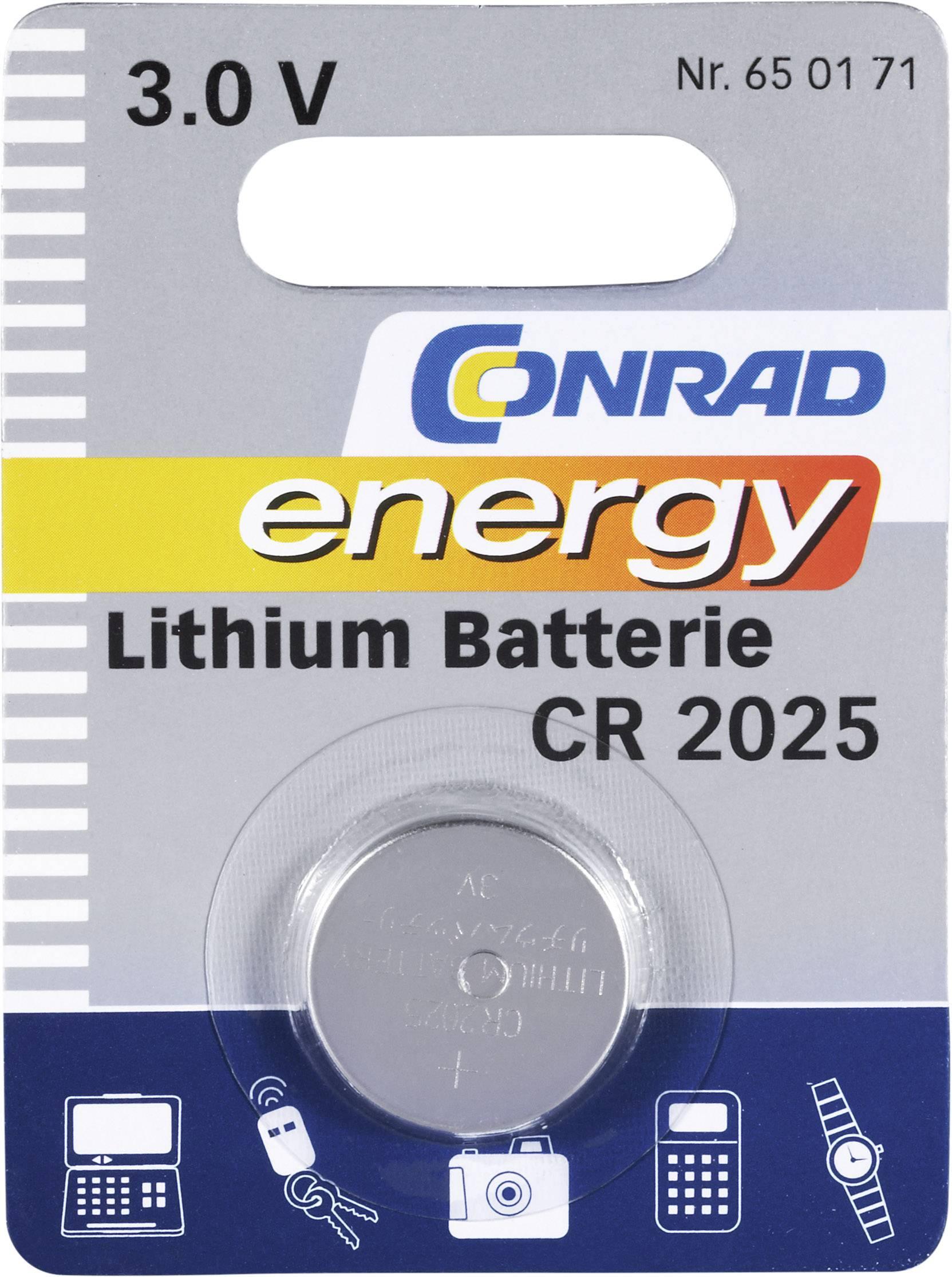 Lítiové gombíkové batérie CR 2025
