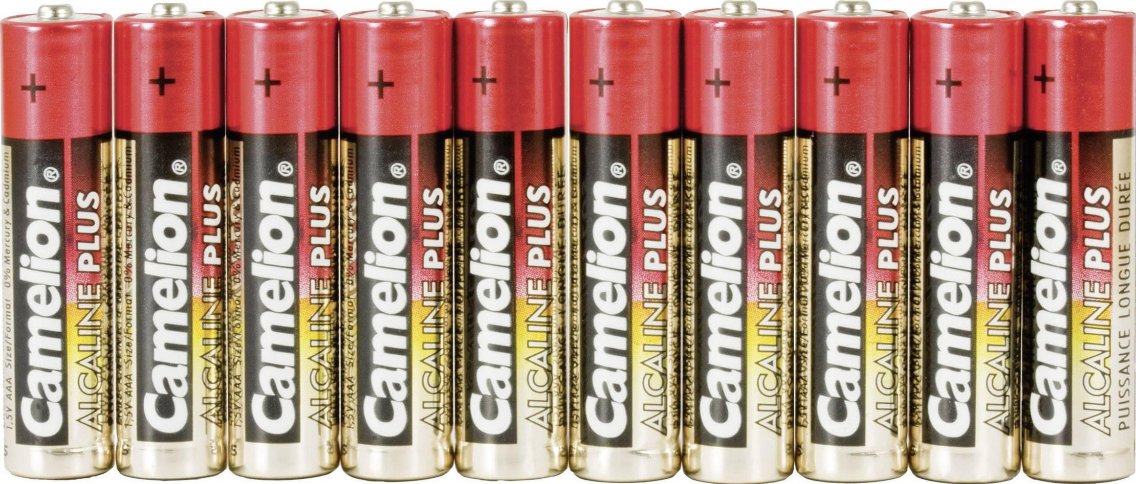 Alkalická/manganová baterie, typ AAA, sada 10 ks