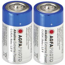 Alkalická baterie Agfaphoto, typ C, sada 2 ks