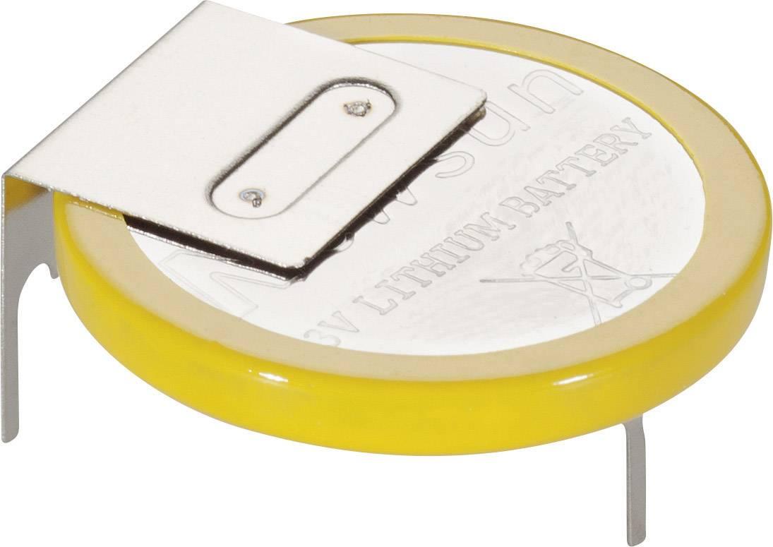 Knoflíková baterie s pájecími kontakty, ležací, New Sun CR2032