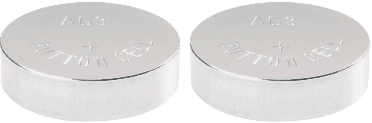 Knoflíková baterie LR41, Camelion AG3, alkalicko-manganová, 2 ks