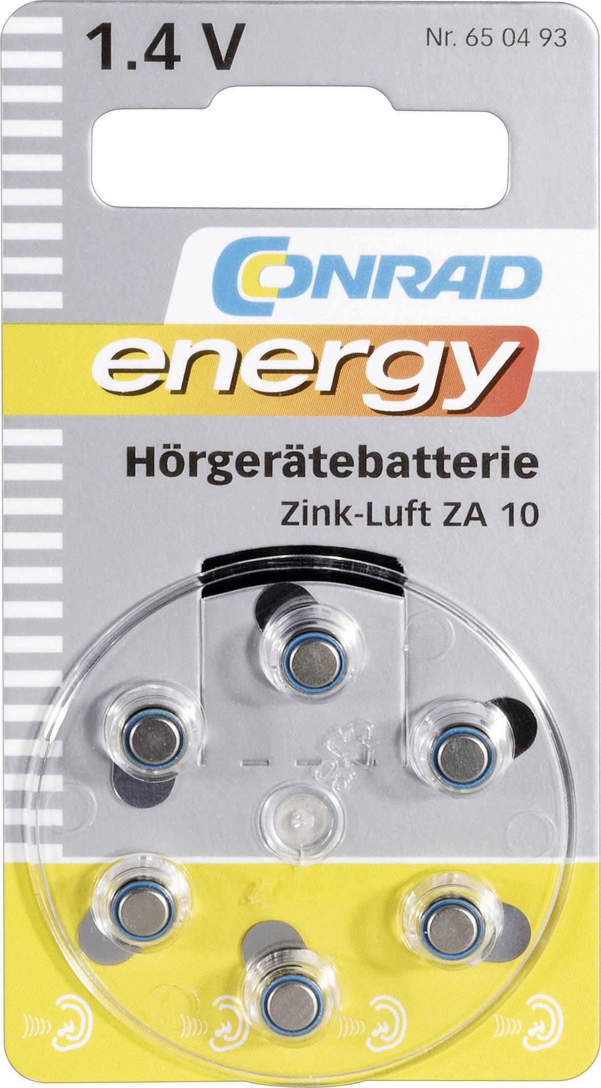 Conrad Energy zinkovo-vzduchové gombíkové batérie ZA 10