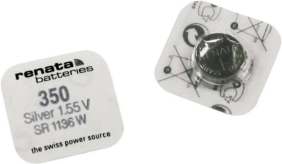 Knoflíková baterie 350, Renata SR42, na bázi oxidu stříbra, 350.SP MF