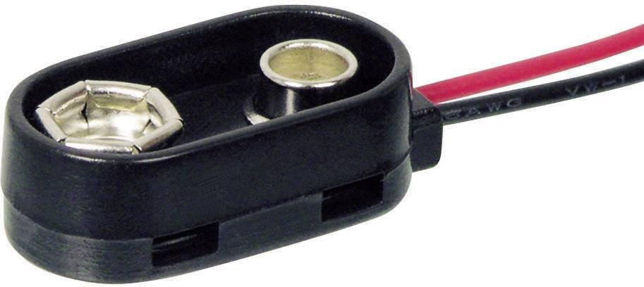 Batériový klip na 1x 9 V bloková Beltrona 9V-I-Clip-S, (d x š x v) 26 x 13 x 8 mm