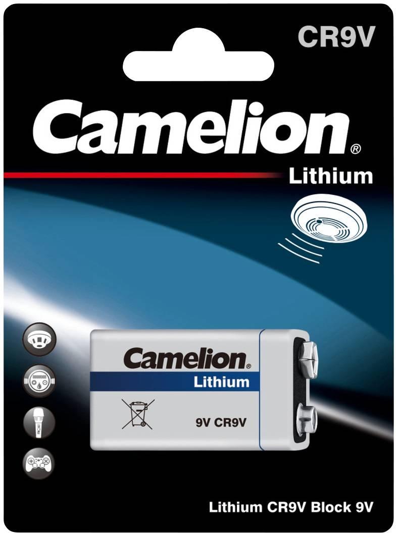 9 V batéria Camelion 6LR61, lítium, 1200 mAh, 9 V, 1 ks