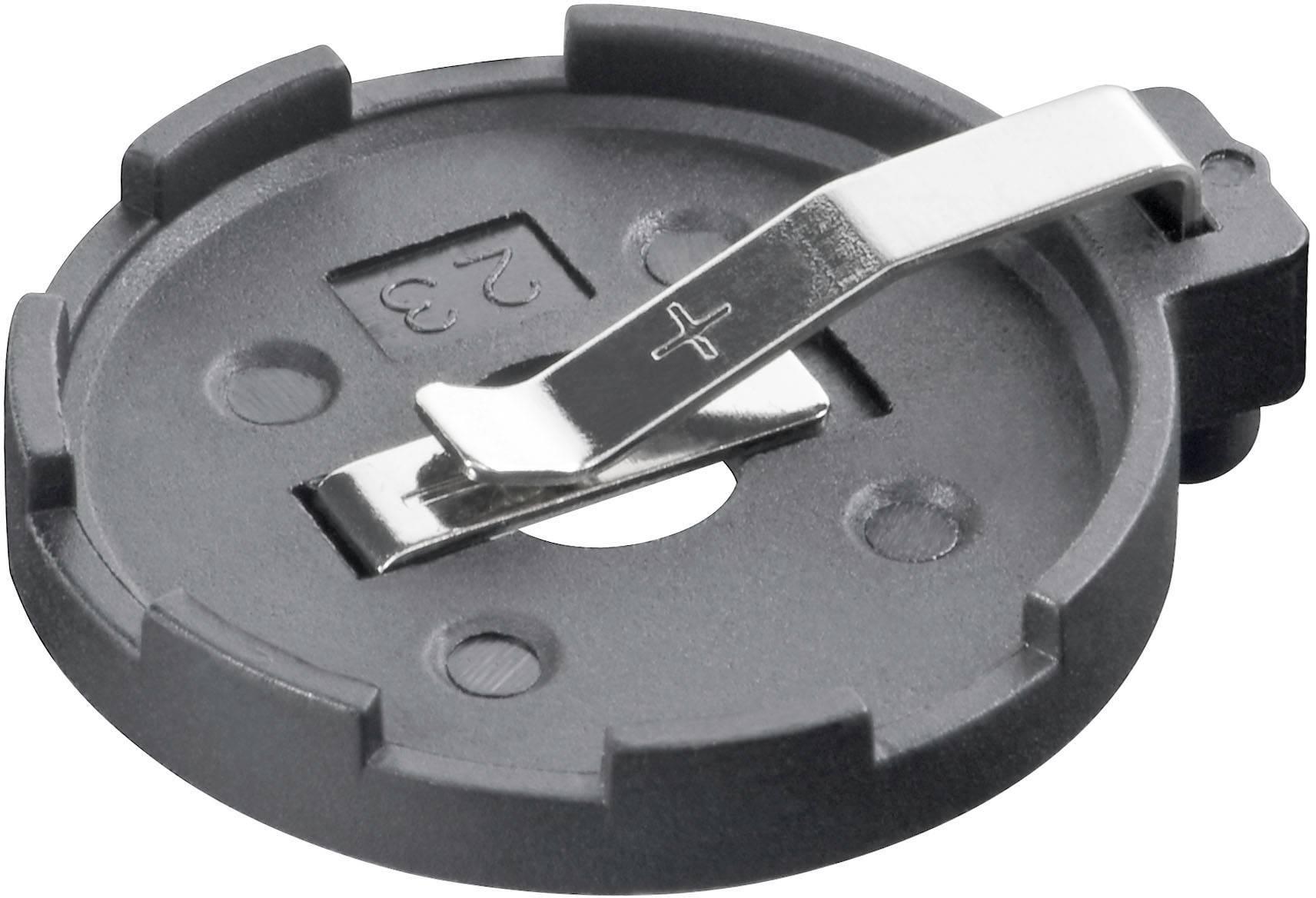 Držiak gombíkových batérií na printový spoj KZH 3