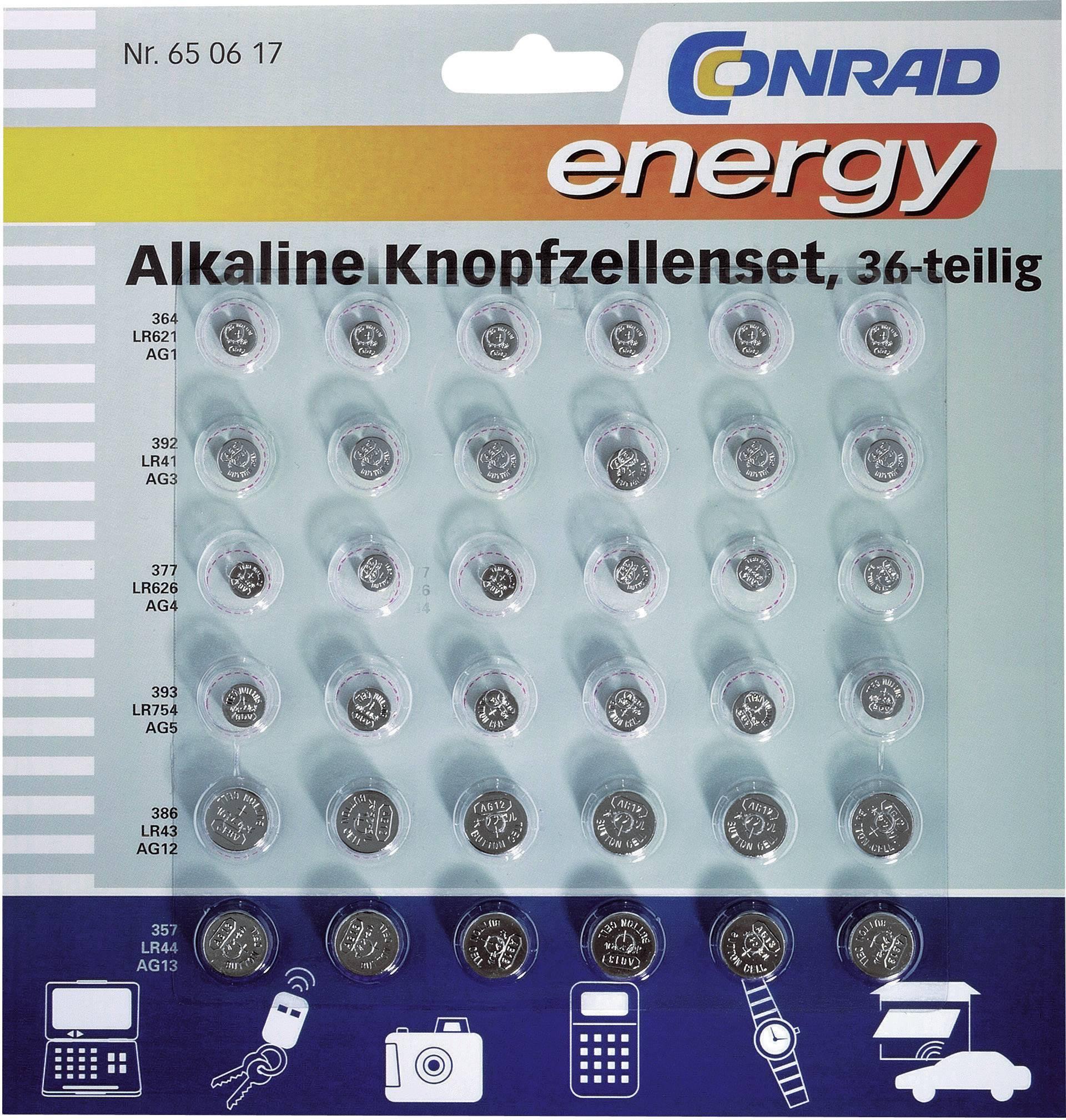 Sady knoflíkových baterií