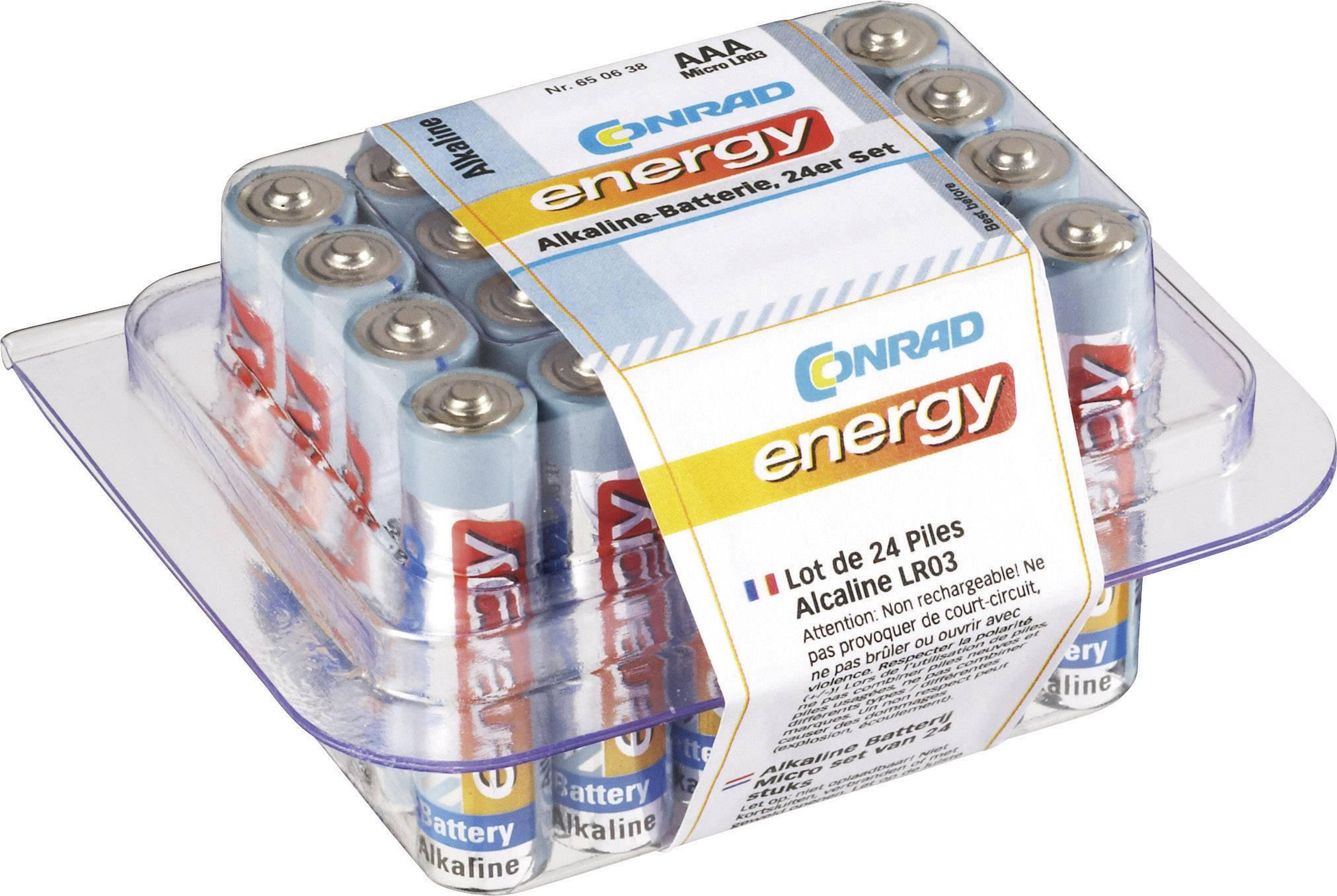 Conrad energy alkalické micro batérie, 24 kusov