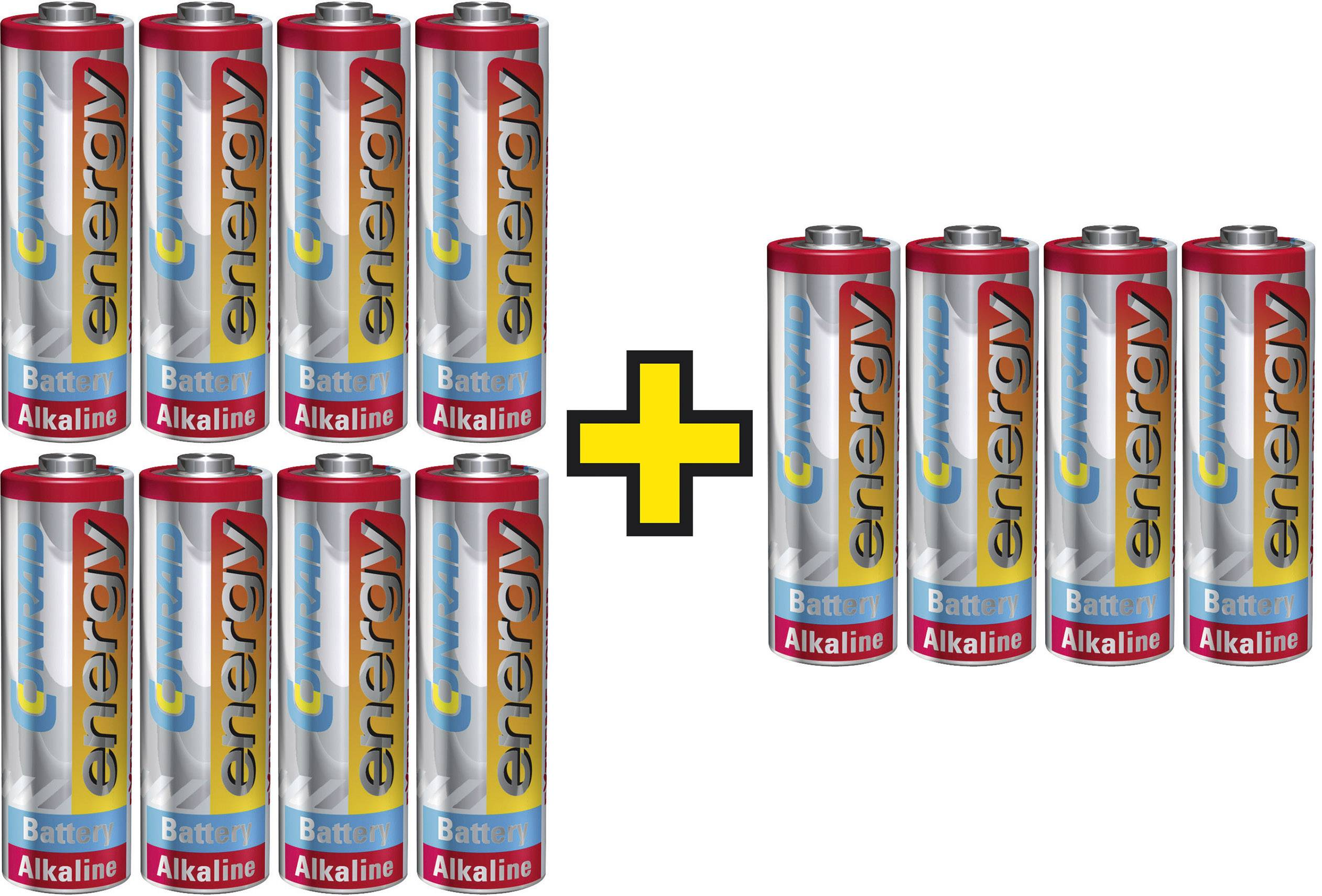 Sada alkalických Extreme Power batérií Conrad Energy, 3x balenie AA (4 ks)