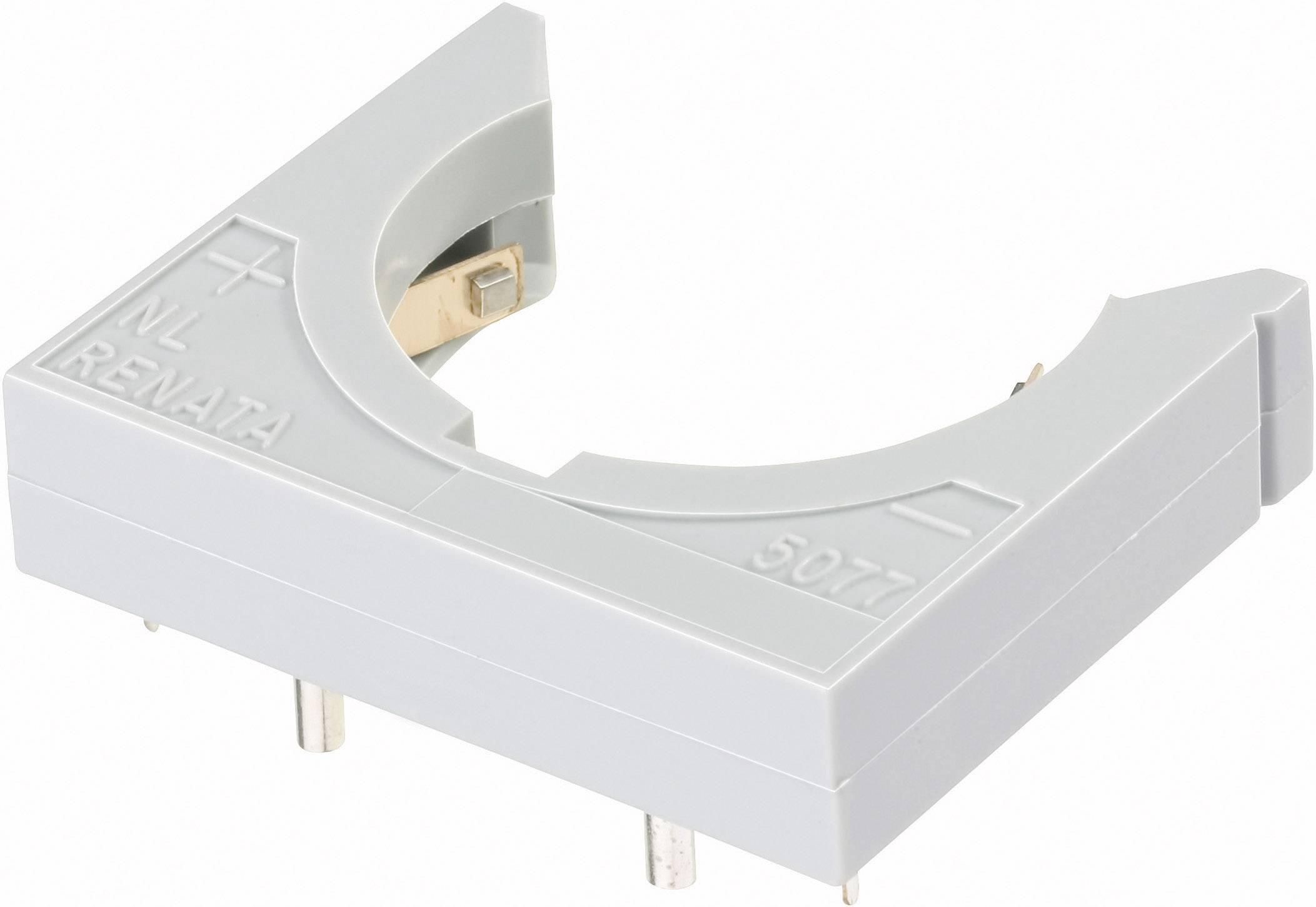 Držák na knoflíkovou baterii CR2450N/CR2477N Renata NL5077-LF, s pájecími kontakty