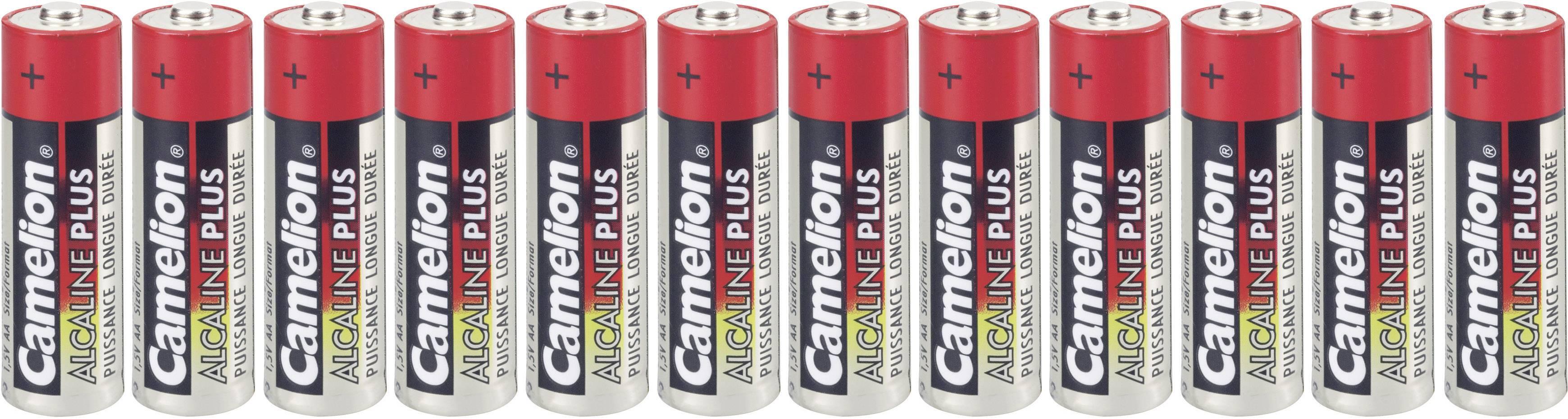 Tužková batéria typu AA alkalicko/mangánová Camelion Plus LR06, 2800 mAh, 1.5 V, 12 ks