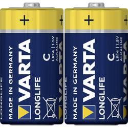 Alkalická baterie Varta Longlife, typ C, 25,5 mm, sada 2 ks