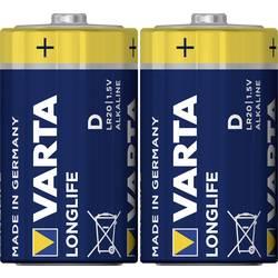 Alkalická baterie Varta Longlife, typ D, 33 mm, sada 2 ks
