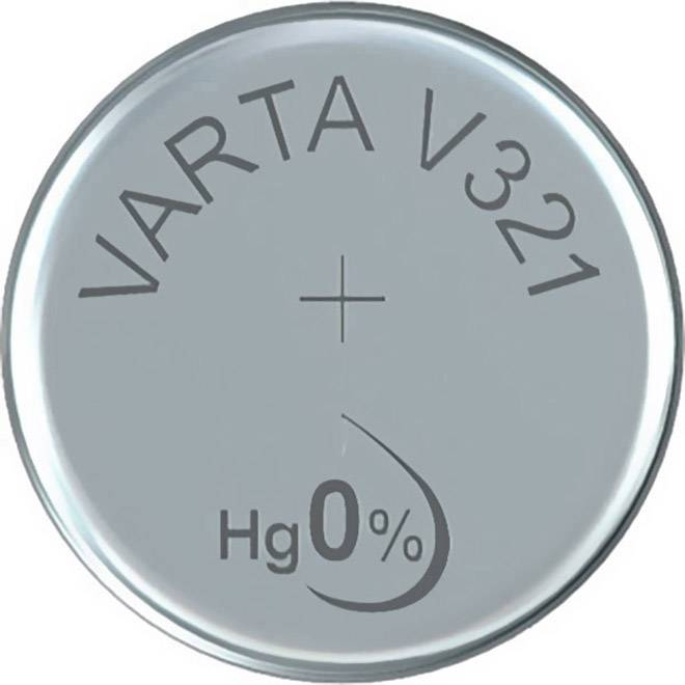 Knoflíková batarie 321, Varta SR65, na bázi oxidu stříbra, 00321101111