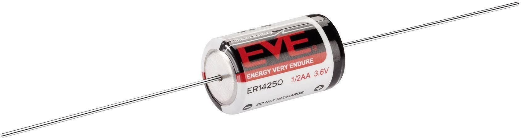 Lithiová batéria EVE, 1/2 AA s pájkovacímy pinmi, 1200 mAh