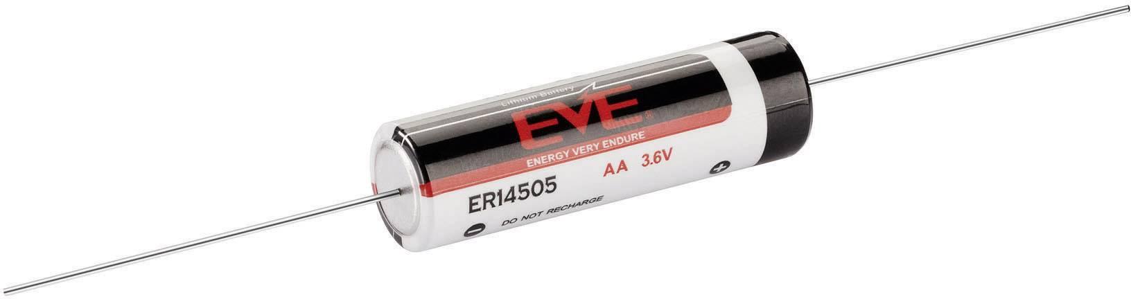 Lithiová baterie Eve, typ AA, s pájecími kontakty