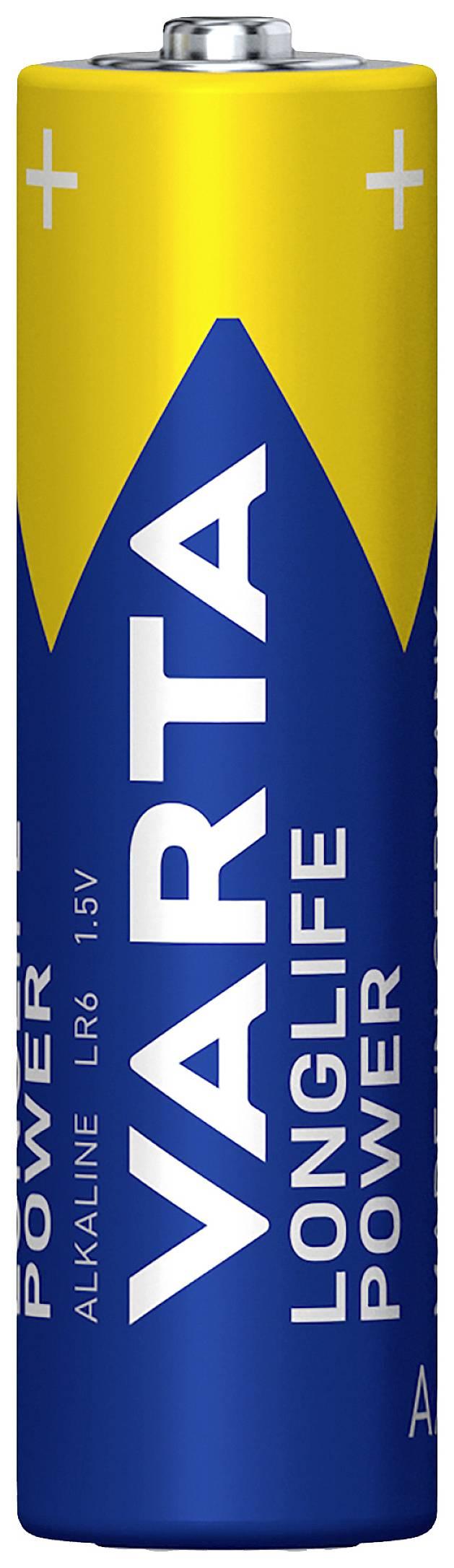 Alkalická/manganová baterie Varta High Energy, typ AA, 4 ks