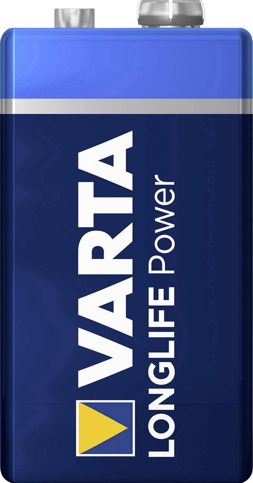 Alkalická/manganová baterie Varta High Energy, 9 V