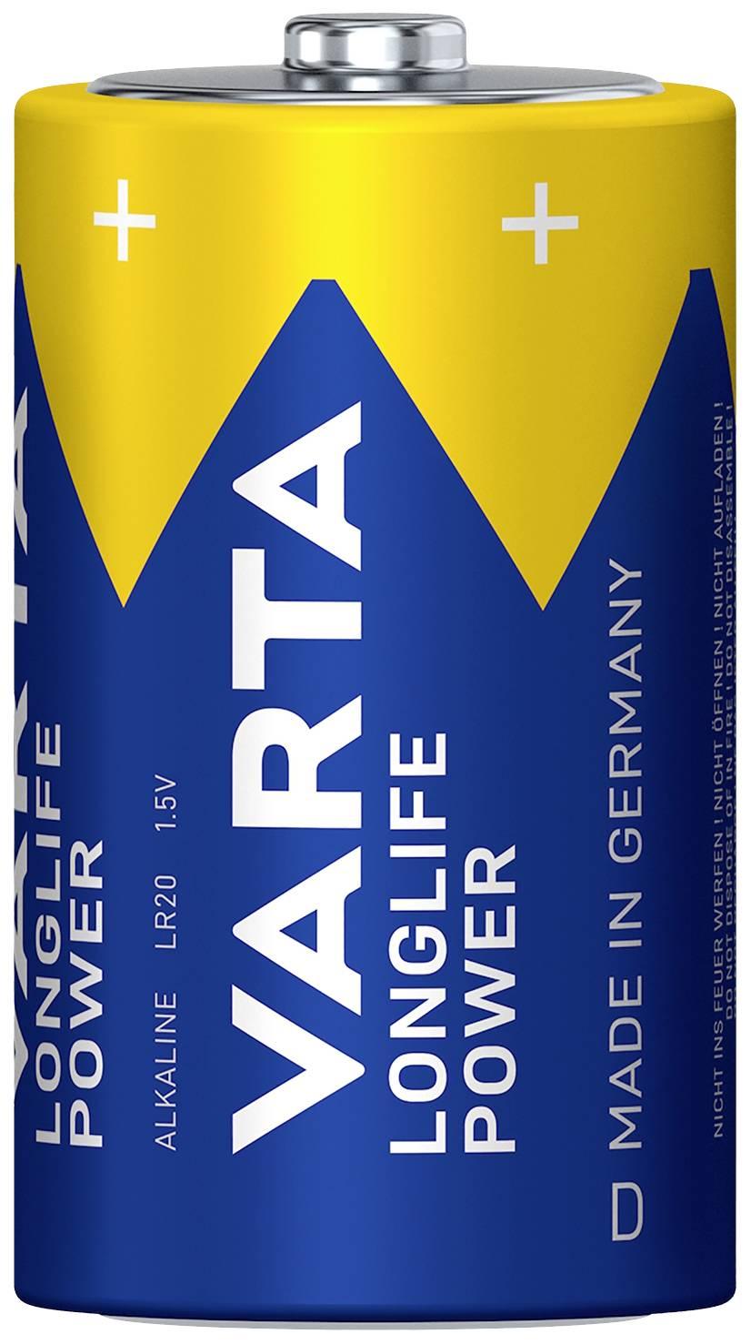 Batéria VARTA High Energy 2 ks, veľké mono, 1,5 V
