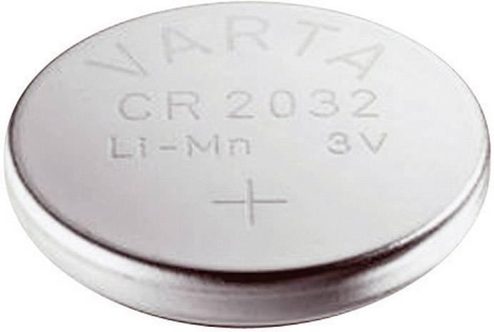 Knoflíková baterie Varta CR2032, lithium, 6032101401