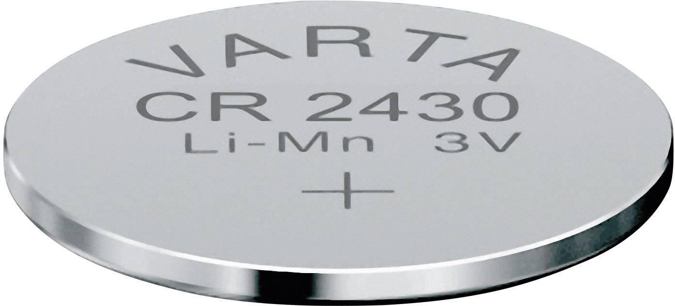 Knoflíková baterie Varta CR2430, lithium, 6430101401