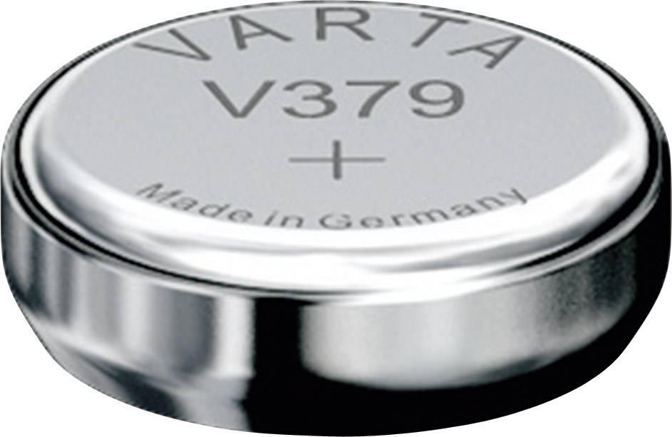 Knoflíková baterie 379, Varta SR63, na bázi oxidu stříbra, 00379101401