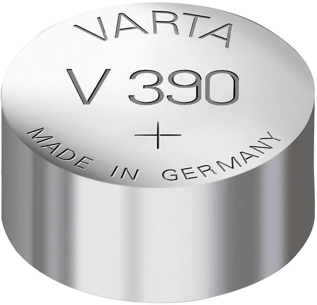 Knoflíková baterie 390, Varta SR54, na bázi oxidu stříbra, 00390101401