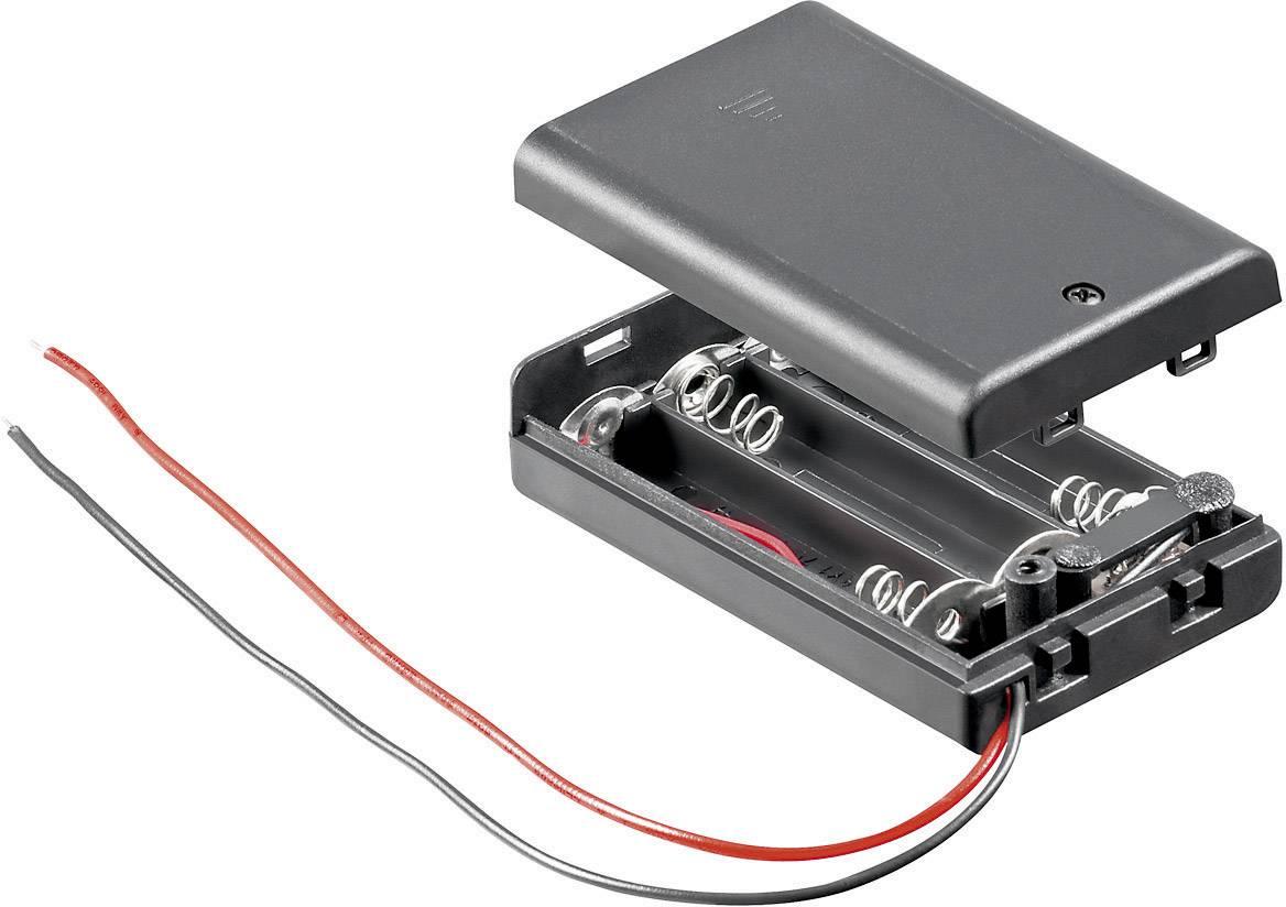 Batériový držák na 3x micro (AAA) Goobay 10885, (d x š x v) 54.4 x 37.5 x 15.3 mm